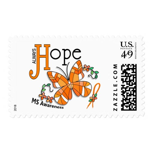 Stained Glass Butterfly MS Postage