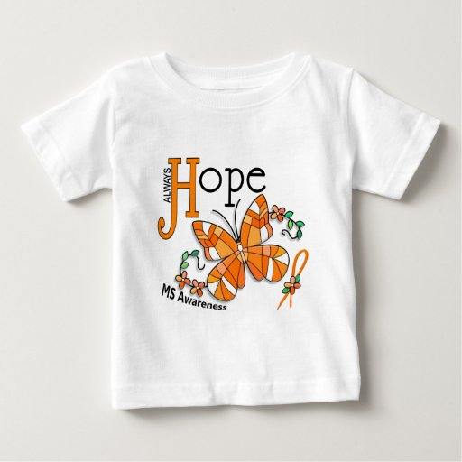 Stained Glass Butterfly MS T Shirt