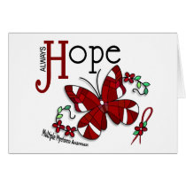 Stained Glass Butterfly Multiple Myeloma Card