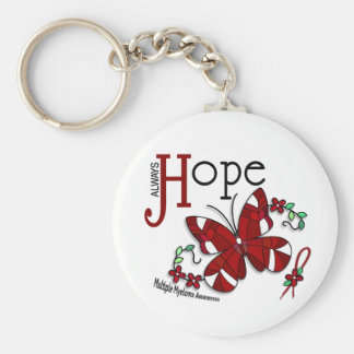 Stained Glass Butterfly Multiple Myeloma Keychain