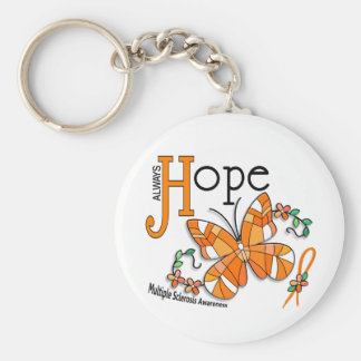 Stained Glass Butterfly Multiple Sclerosis Keychain