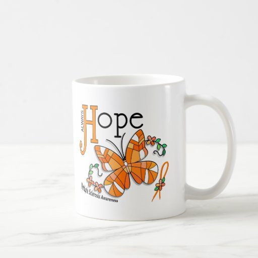 Stained Glass Butterfly Multiple Sclerosis Coffee Mugs