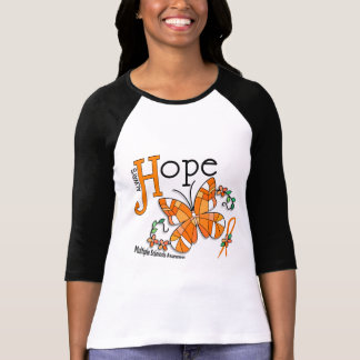 Stained Glass Butterfly Multiple Sclerosis T-Shirt