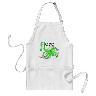 Stained Glass Butterfly Non-Hodgkins Lymphoma Adult Apron