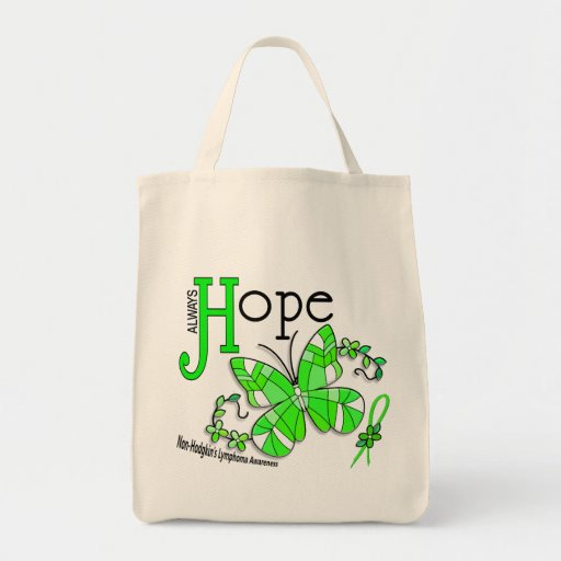 Stained Glass Butterfly Non-Hodgkins Lymphoma Tote Bag
