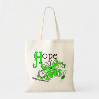 Stained Glass Butterfly Non-Hodgkins Lymphoma Budget Tote Bag