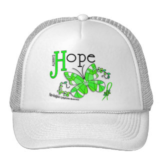Stained Glass Butterfly Non-Hodgkins Lymphoma Trucker Hat