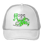 Stained Glass Butterfly Non-Hodgkins Lymphoma Hats