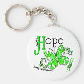 Stained Glass Butterfly Non-Hodgkins Lymphoma Keychain