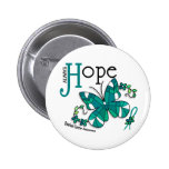 Stained Glass Butterfly Ovarian Cancer Buttons