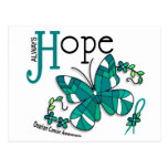 Stained Glass Butterfly Ovarian Cancer Post Card