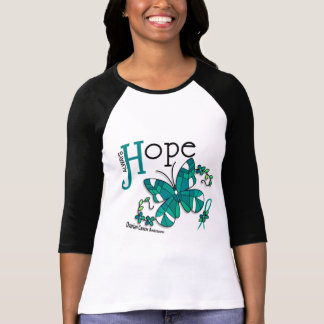 Stained Glass Butterfly Ovarian Cancer T-Shirt