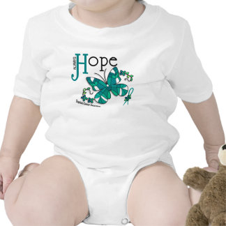Stained Glass Butterfly Ovarian Cancer Bodysuits