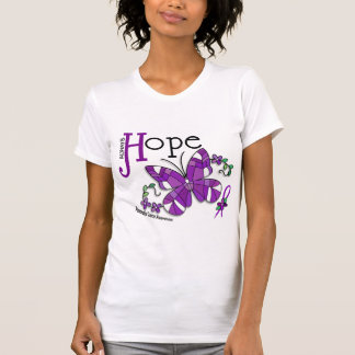 Stained Glass Butterfly Pancreatic Cancer T Shirt