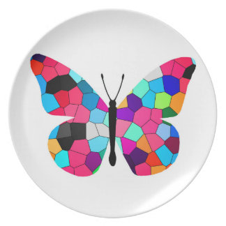 Stained Glass Butterfly Plates
