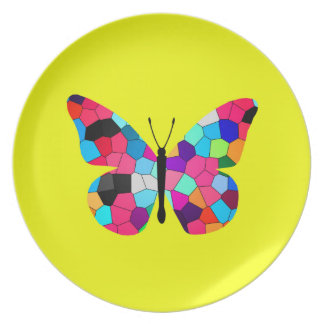 Stained Glass Butterfly Party Plates