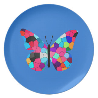 Stained Glass Butterfly Dinner Plates