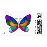 Stained Glass Butterfly Postage Stamp