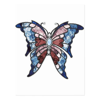 Stained Glass Butterfly Postcard