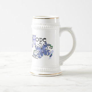 Stained Glass Butterfly Prostate Cancer Coffee Mugs