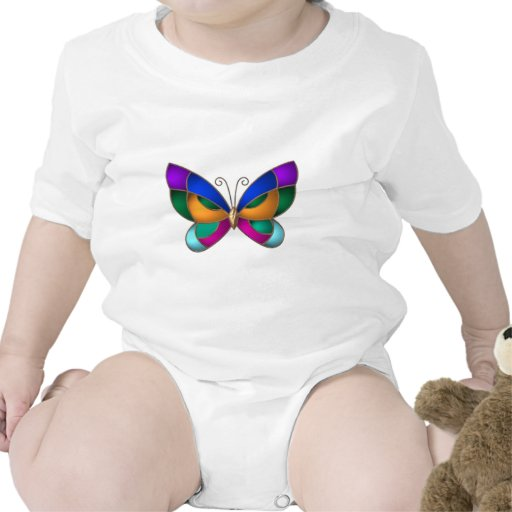 Stained Glass Butterfly Rompers