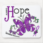 Stained Glass Butterfly Sarcoidosis Mousepad