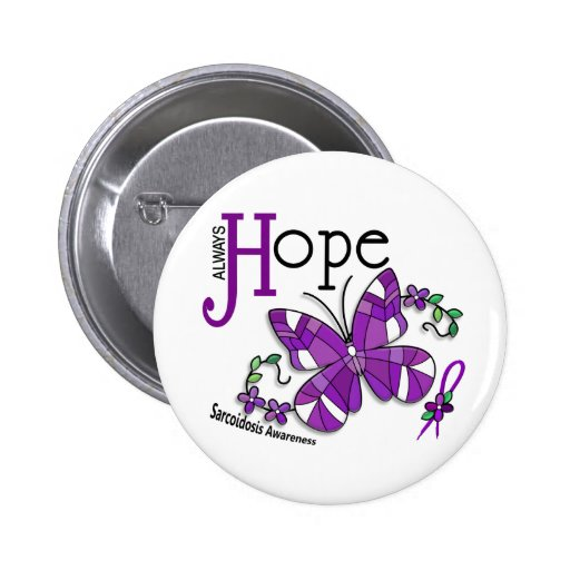 Stained Glass Butterfly Sarcoidosis Pins