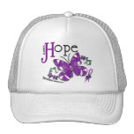 Stained Glass Butterfly Sarcoidosis Trucker Hat