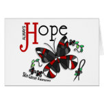 Stained Glass Butterfly Skin Cancer Greeting Card