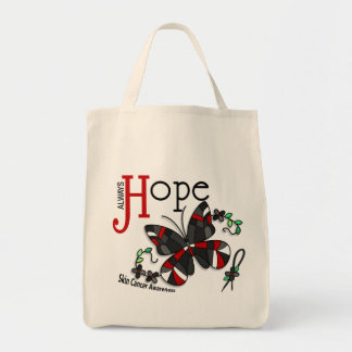 Stained Glass Butterfly Skin Cancer Tote Bag