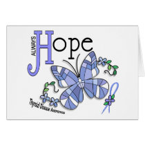 Stained Glass Butterfly Thyroid Disease Card