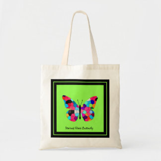 Stained Glass Butterfly Tote Bag