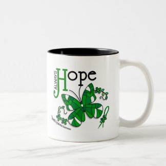 Stained Glass Butterfly Tourette's Syndrome Two-Tone Coffee Mug