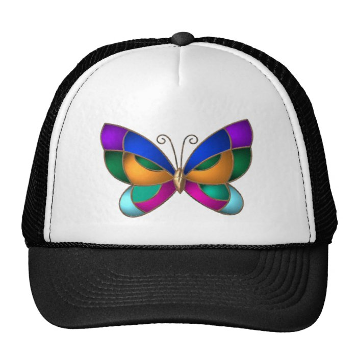 Stained Glass Butterfly Trucker Hat