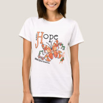 Stained Glass Butterfly Uterine Cancer T-Shirt