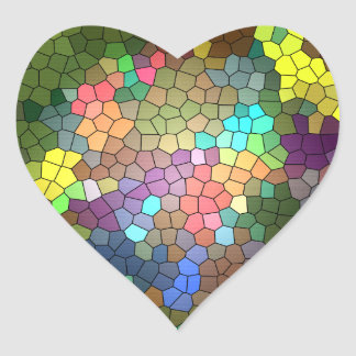 Stained Glass by Shirley Taylor Heart Sticker
