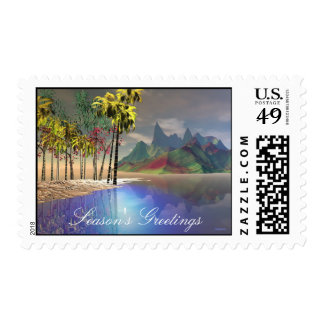 Stained Glass C35, Season's Greetings Postage