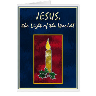 Stained glass candle card