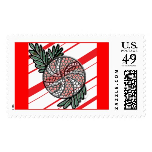 Stained Glass Candy Cane Stamps
