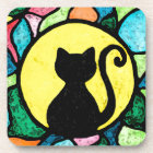 Stained Glass Cat Coasters