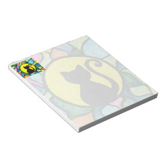 Stained Glass Cat Watercolor Notepad