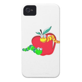 Stained Glass Caterpillars on Apple iPhone 4 Case-Mate Cases