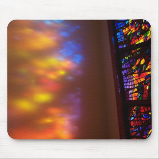 Stained Glass Cathedral Prayer Chapel Mouse Pad