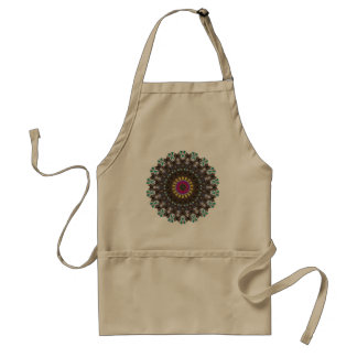 Stained Glass Cathedral Window Pattern Adult Apron
