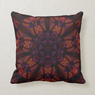 Stained Glass Cavern Mandala Pillow