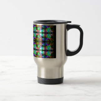 Stained-Glass chain pattern by Valxart.com Travel Mug