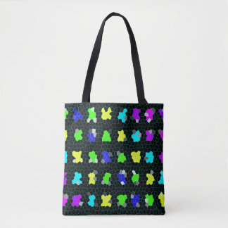 Stained Glass Checks Pattern, Tote Bag