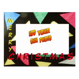 Stained Glass Christmas ADD YOUR PHOTO Postcard