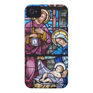 Stained Glass Christmas iPhone 4 Case