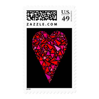 Stained Glass Christmas Heart Postage
